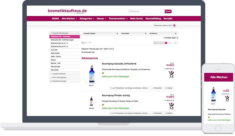 Kosmetikkaufhaus-Mockup